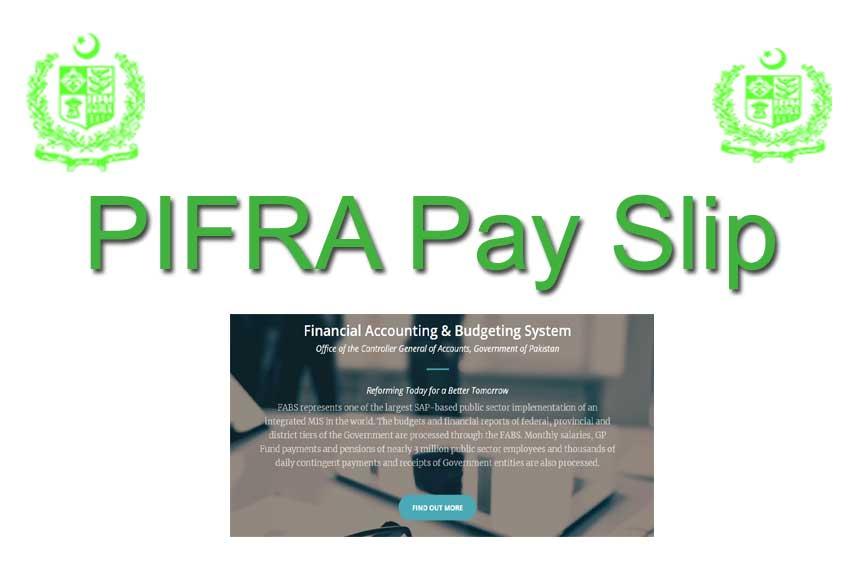 PIFRA Pay Slip