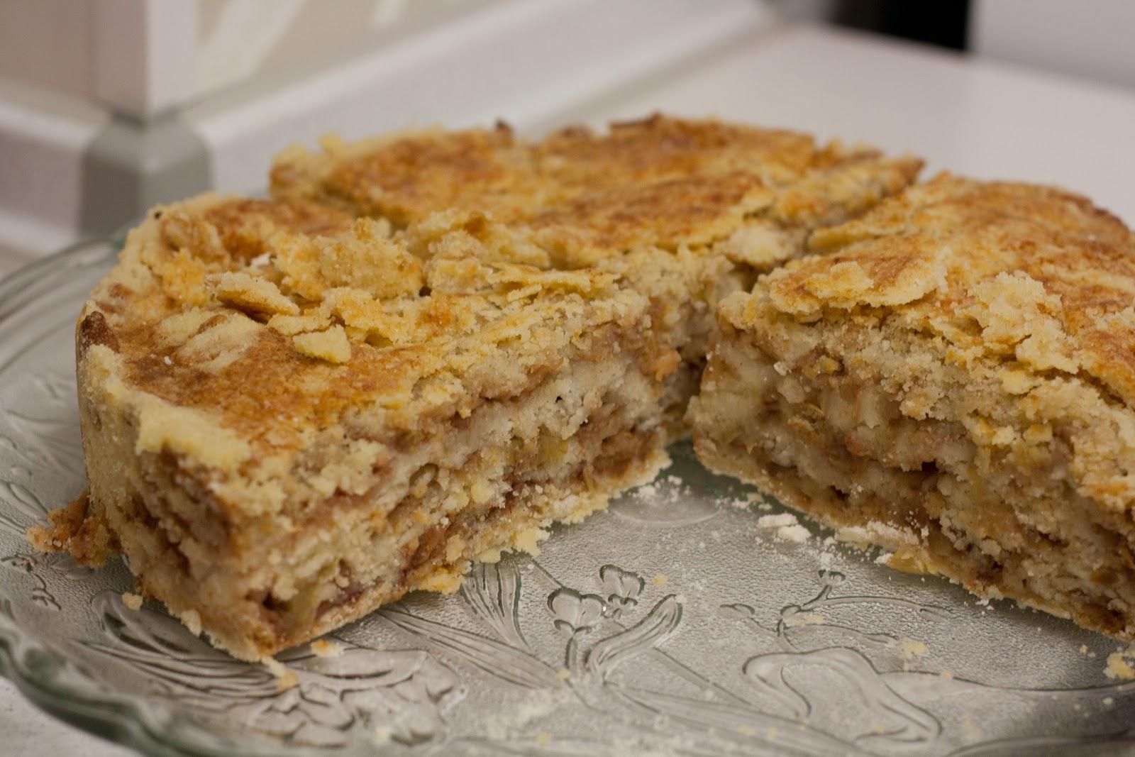 рецепт варшавського (або угорського) насипного яблучного пирога