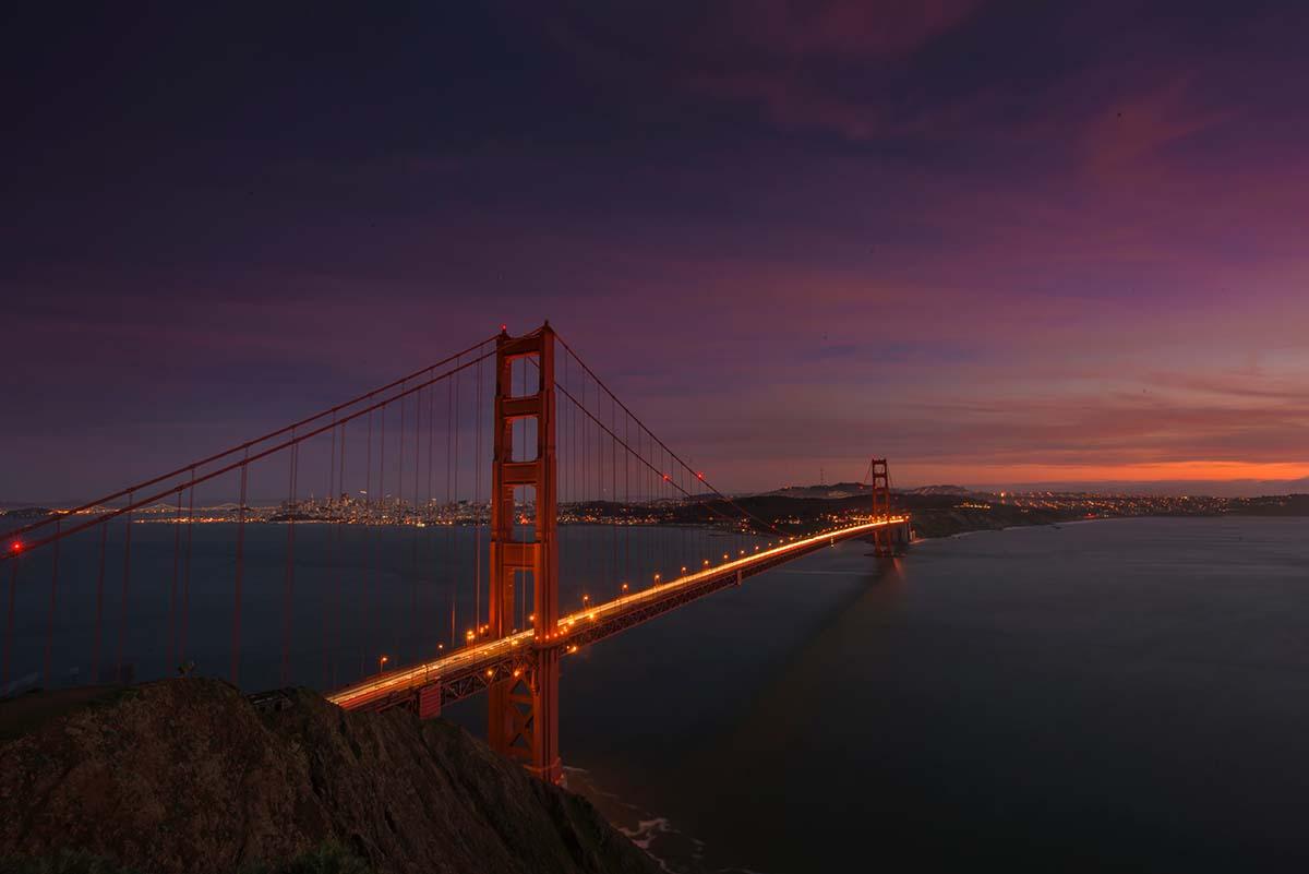 bridge light photography