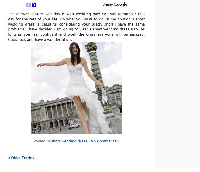 пример сайта самого низкого качества недостаточный объем основного контента