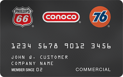 76 66 phillips conoco commercial gas card