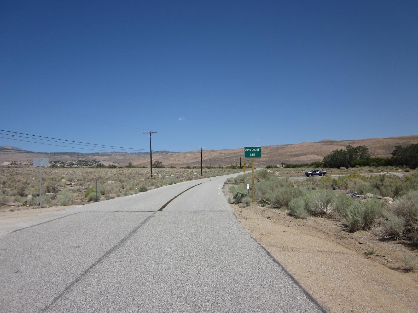 Beginning of Rock Creek Road climb by bike
