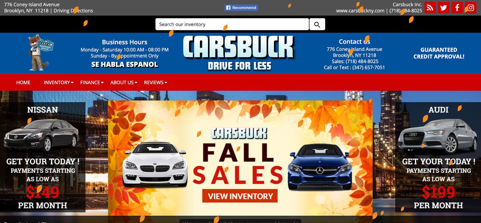 Screenshot of Carsbuck
