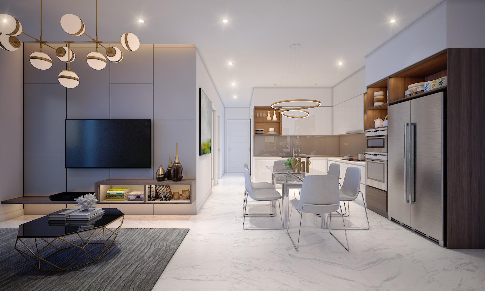 Sống trong chung cư vẫn đảm bảo tiện nghi, thoải mái