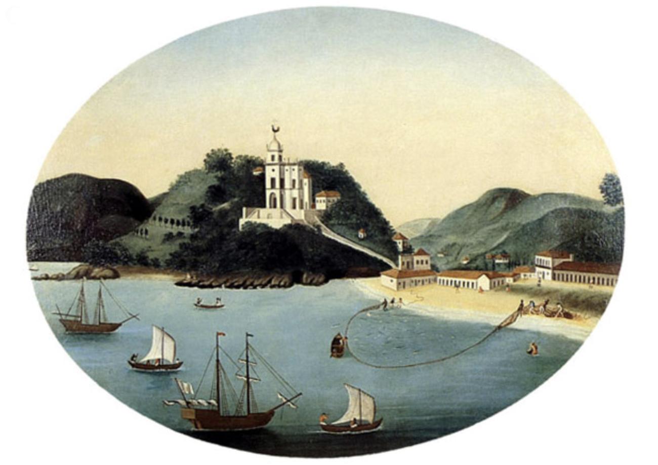 gravura da igreja da Glória, RJ, século 18