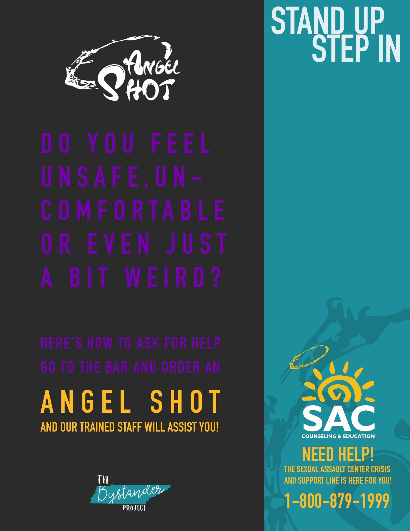 Poster for the Angel Shot from a bar in Nashville, Tennessee.