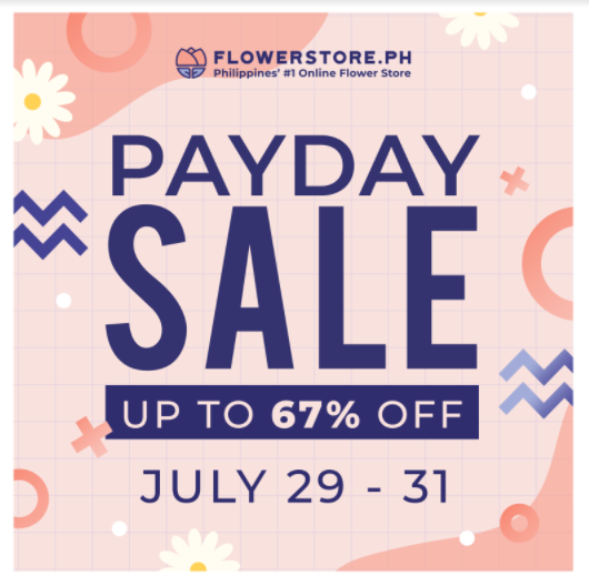 Get up to 67% on Flowerstore's HUGE payday sale