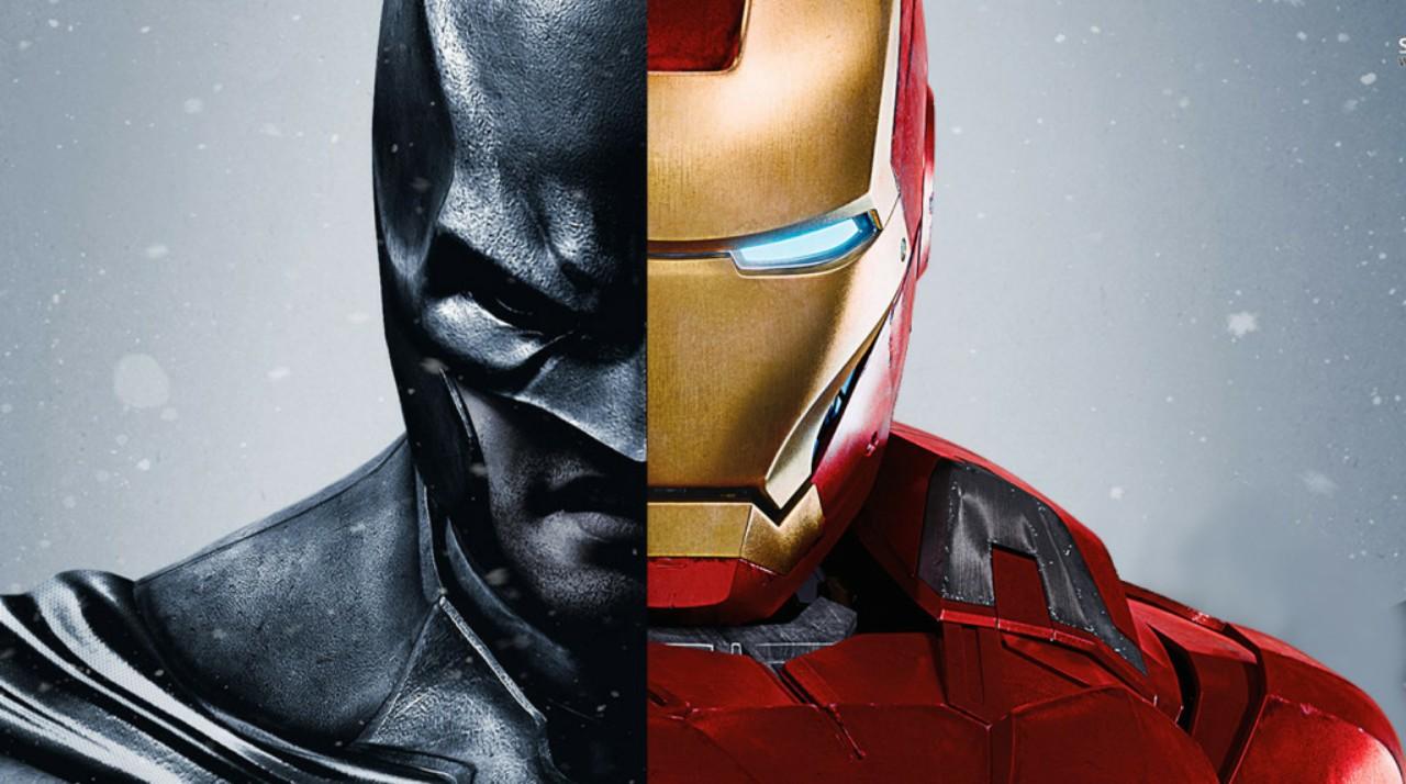 Batman and Iron Man - similar DC and Marvel Characters