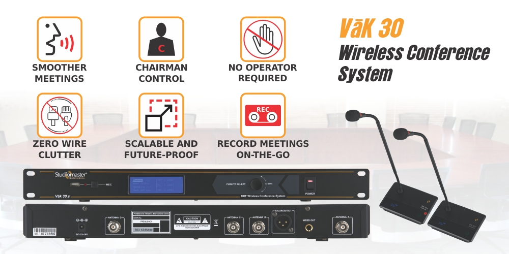 Vak 30 wireless conference system by studiomaster professional in india