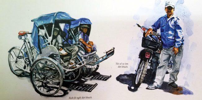 Xích lô và xe ôm - hai loại hình kiếm sống của dân lao động Sài Gòn - Chợ Lớn