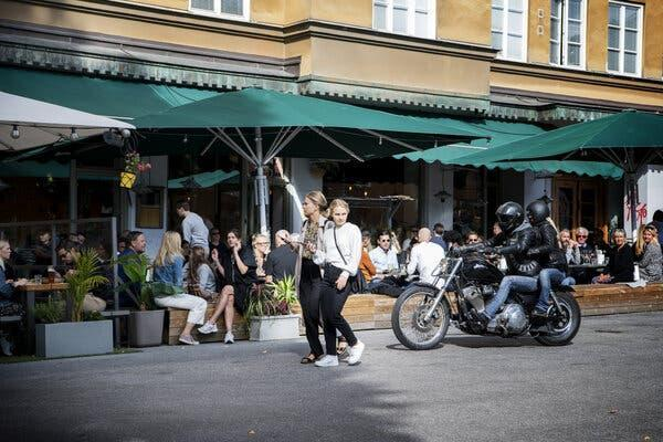 The streets and restaurants of Stockholm have been full of people.