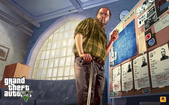 Lester Crest, der Türöffner für Attentats Missionen, vor einem Notizbrett