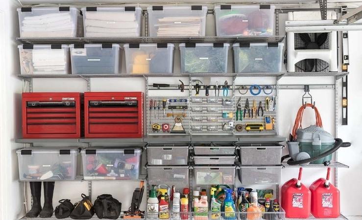 garage shelving for DIY garage organization