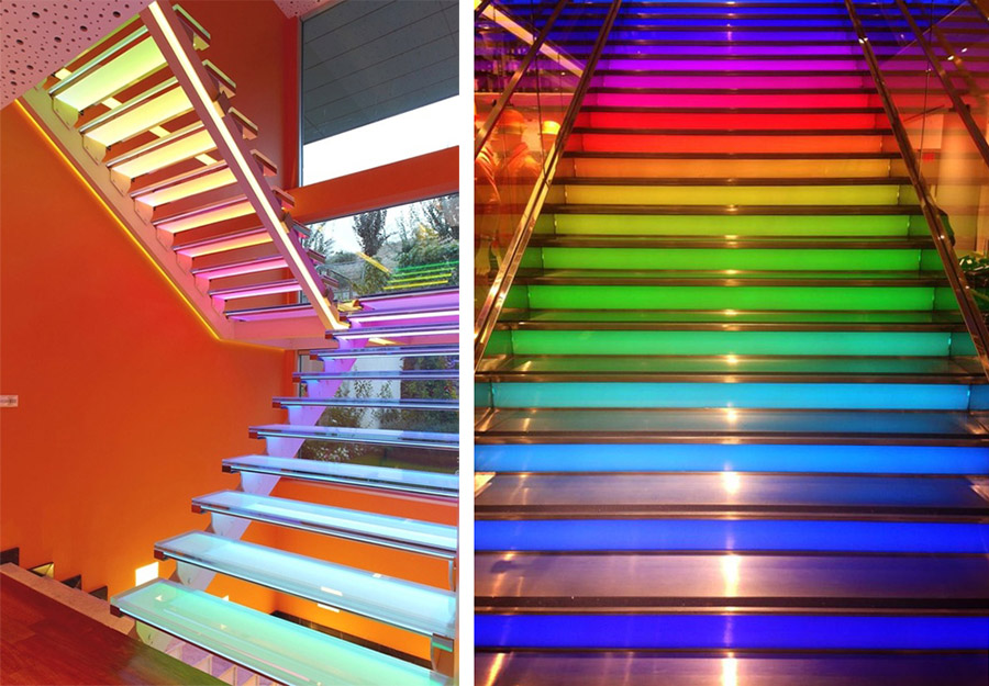 стеклянные лестницы для дома