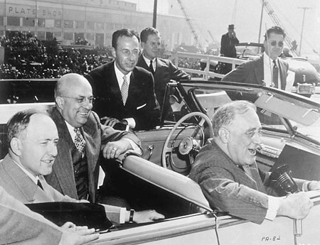 FDR in a car