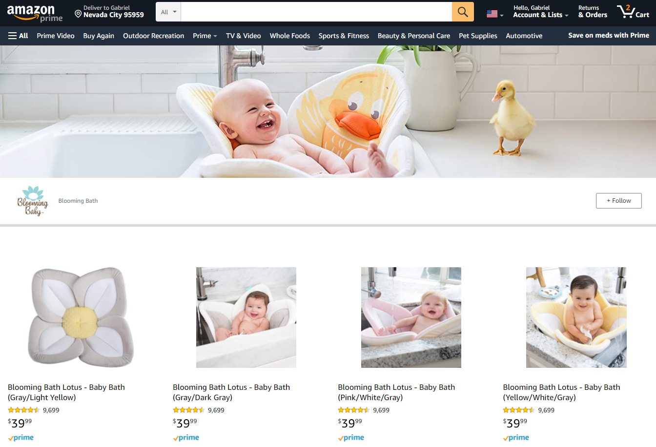 Blooming Bath's Amazon page