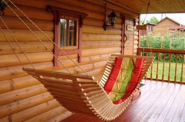 Гамак из деревянных реек