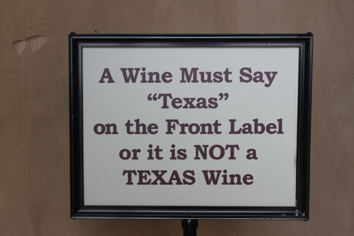 Many Wineries Detest 'For Sale In Texas Only' (FSITO) wines.JPG