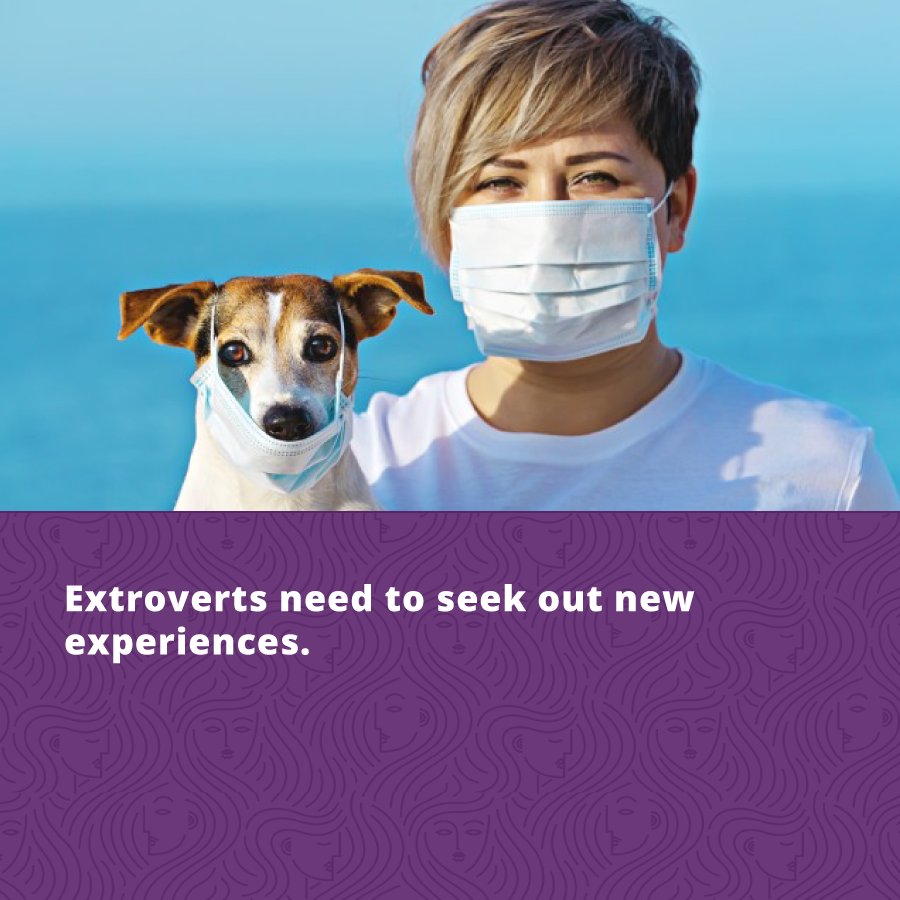 Extrovert personality type needs to seek out new experiences