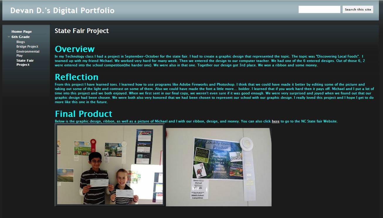students shine through digital portfolios