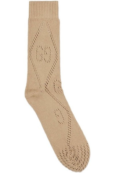 Gucci GG Perforated Cotton Socks