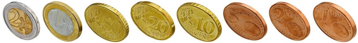types of euro coins