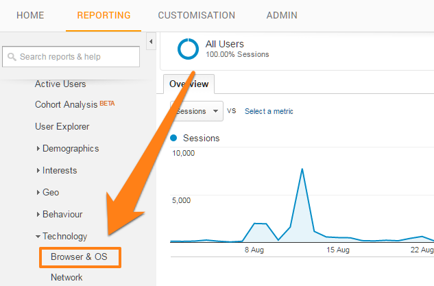 Browser in Google Analytics