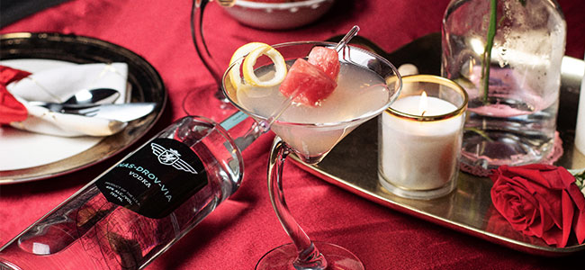 A Valentine's Cocktail Kiss