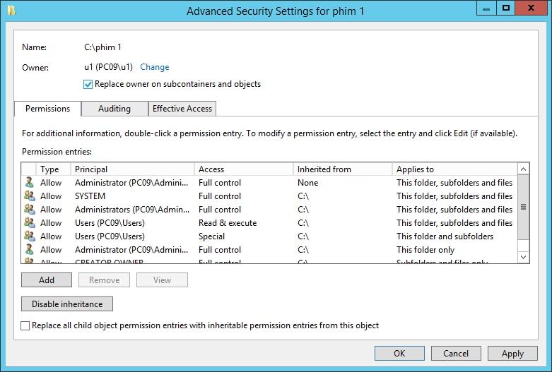 NTFS Permission 09