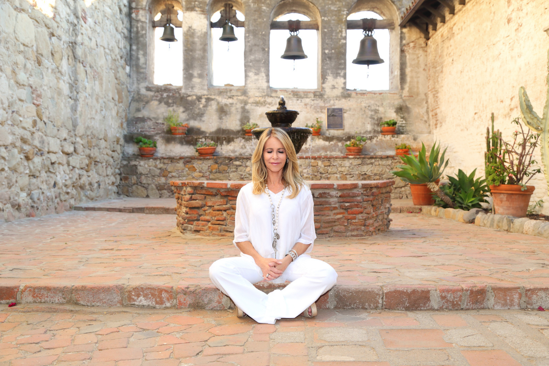 Author Tonyah Dee meditating