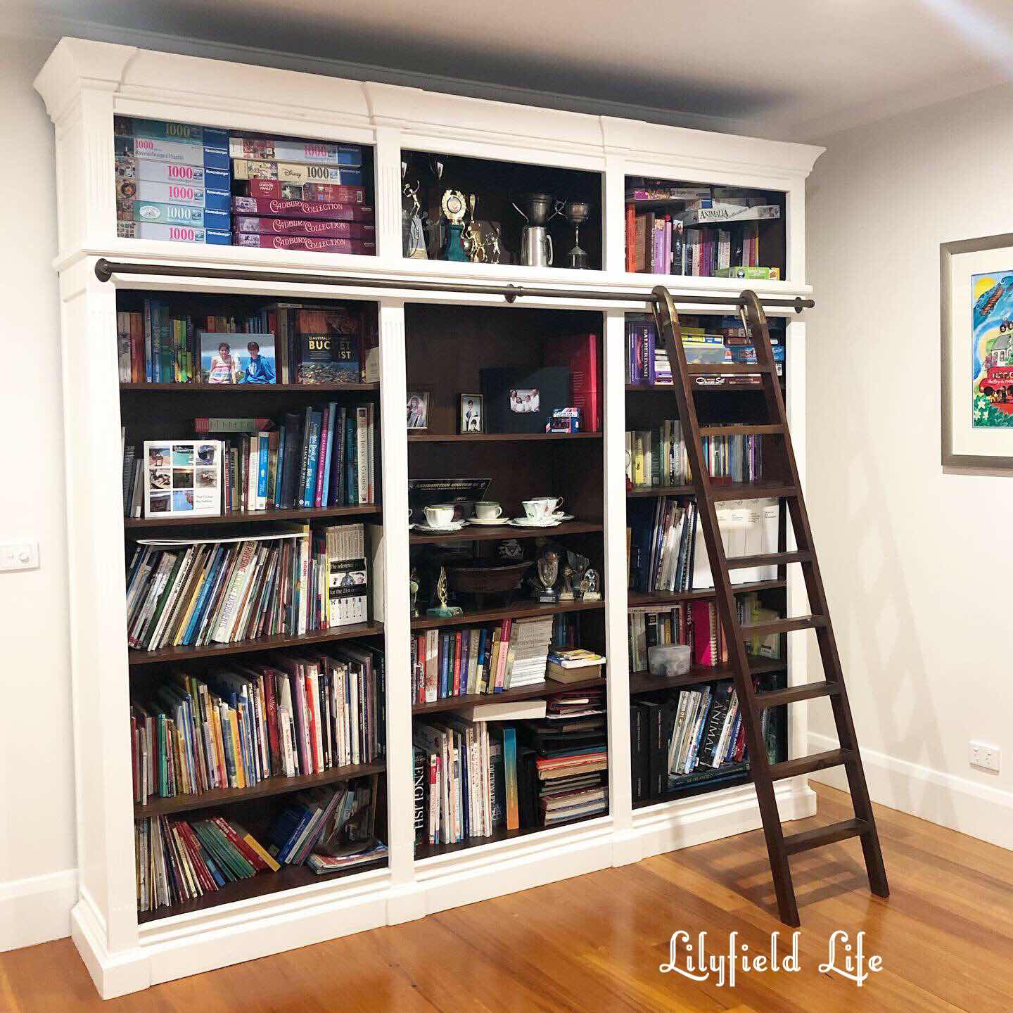 bookcase lilyfield life white paint chalk
