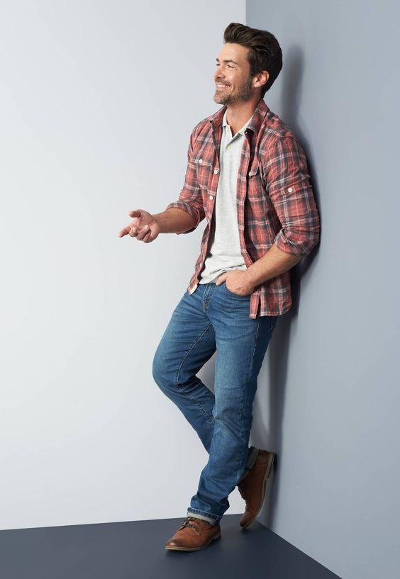 Man wearing a rugged shirt