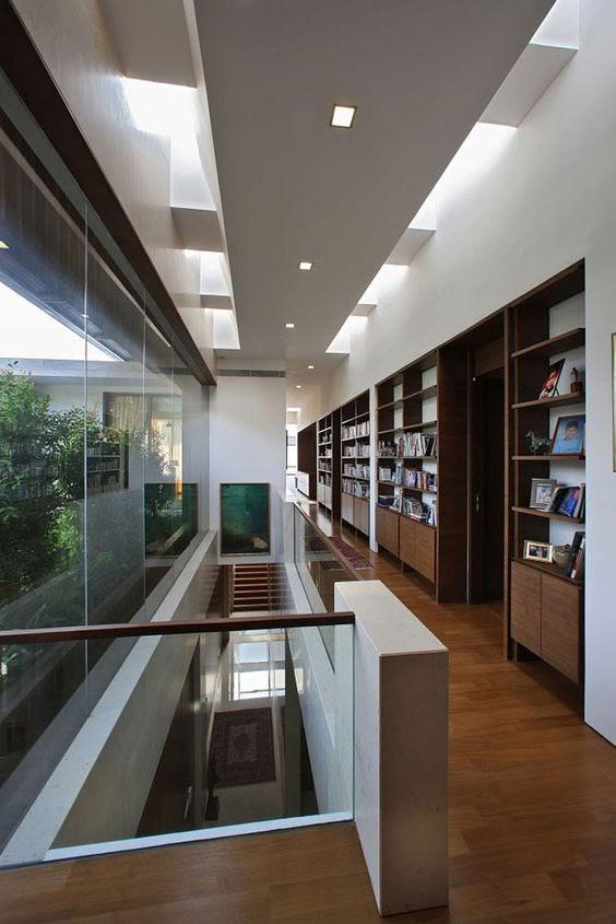 Library Inspiration on upstairs hallway