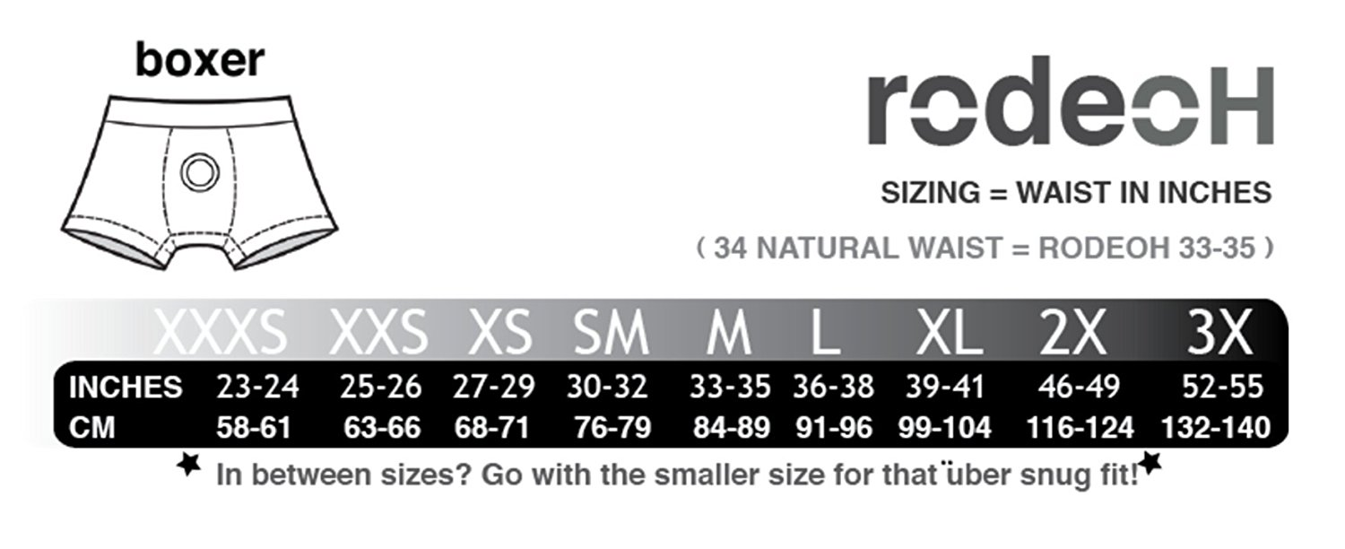 Image result for rodeoh size chart