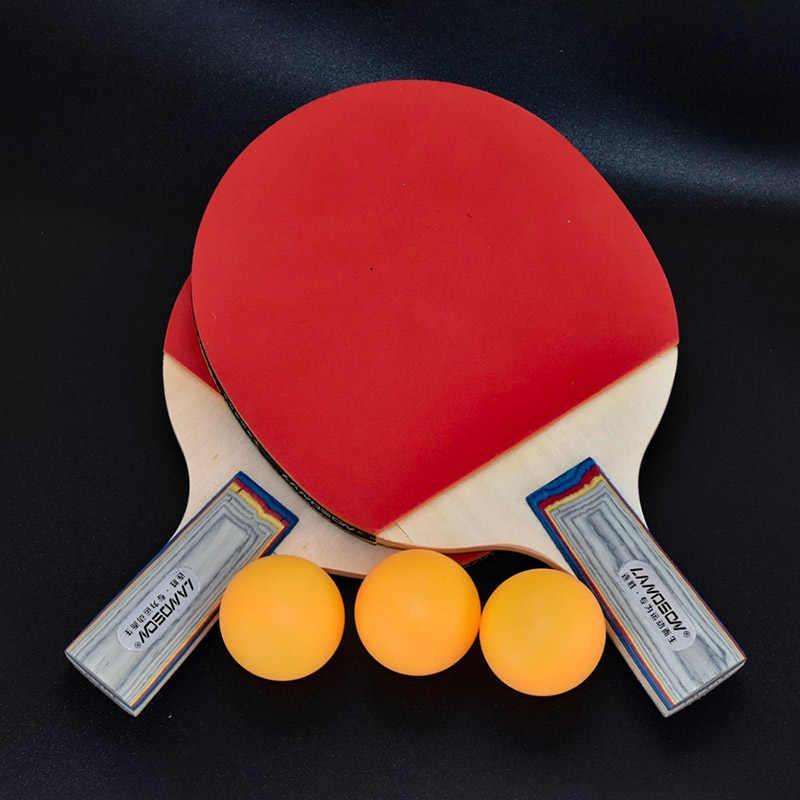 Ракетки для настольного тенниса Landson, профессиональные теннисные ракетки 2 + 3 мяча с двойным лицом, резиновая ракетка для пинг понга|Ракетки для настольного тенниса| | АлиЭкспресс