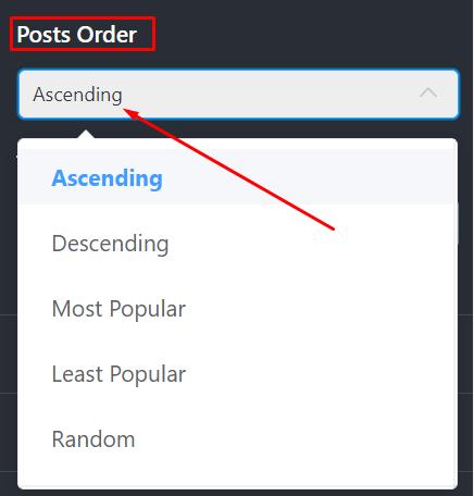Posts order Instagram settings