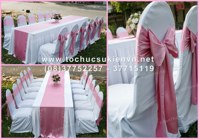 Các mẫu bàn ghế tiệc cưới HCM