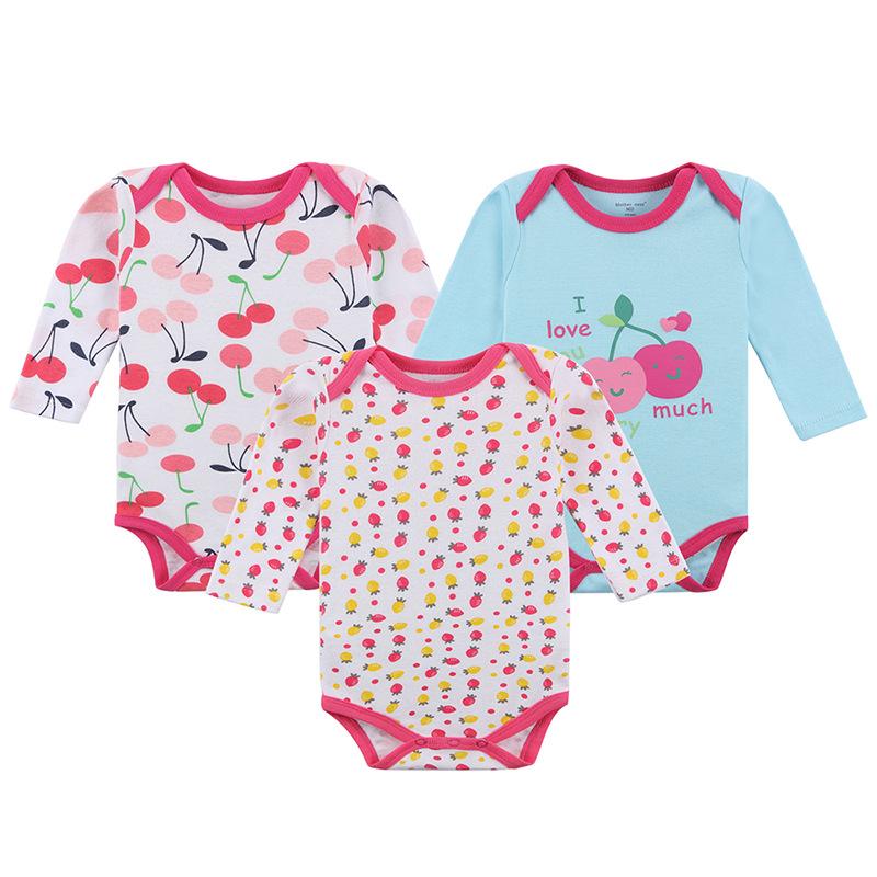 Body niemowlęce wielopak dla dziewczynki z długim rękawem