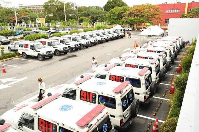MSP recibe 29 Ambulancias. para el Sistema de Emergencias 911 en la Prov. Duarte y el Gran SD