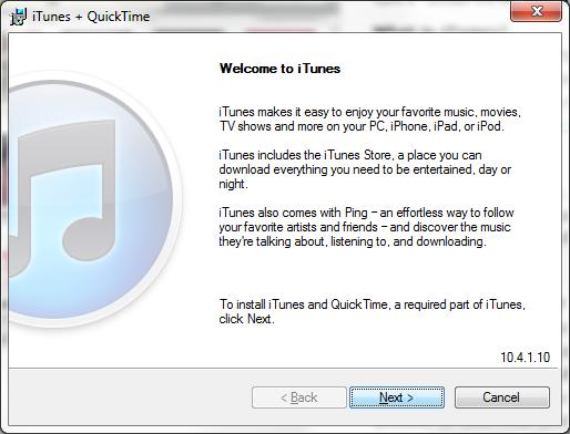Installing iTunes - LWT iPad Mobile