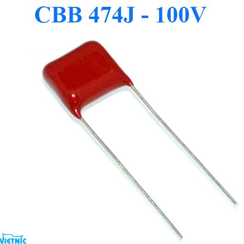 Tụ CBB 474J ( 470NF = 0.47UF ) - 100V