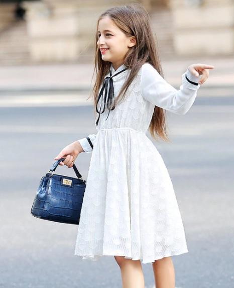 Tanie Sukienki Z Koronki Na Wesele Dla Dziecka Dziewczynki W Wieku 10, 11,12 Lat 2