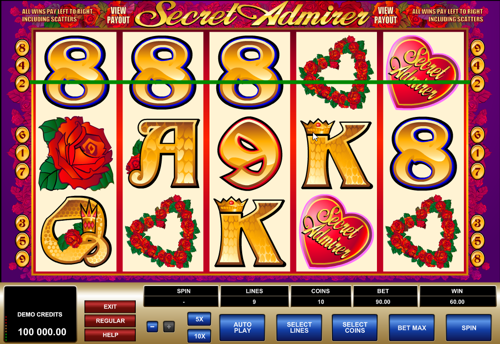 Secret Admirer Slots Game Review