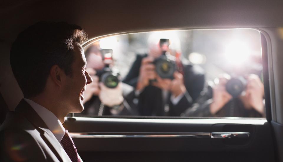 celebrity in car