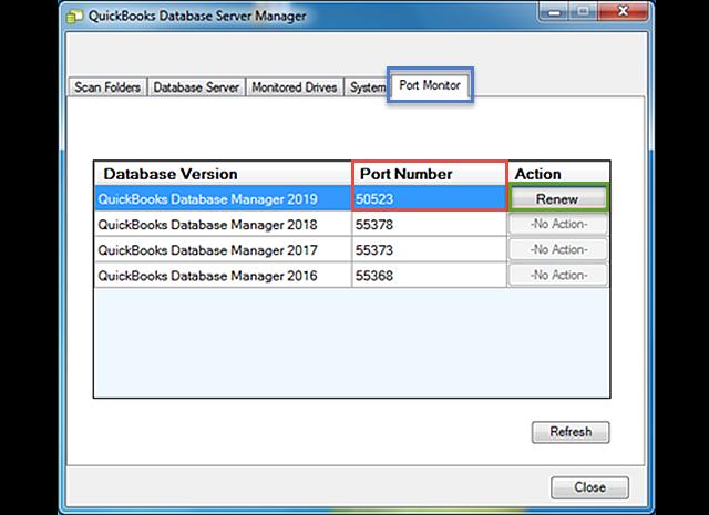 Update QuickBooks Database Server Manager