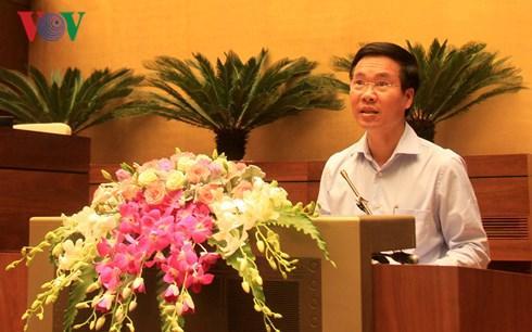Trưởng Ban Tuyên giáo Trung ương Võ Văn Thưởng phát biểu kết luận Hội nghị (Ảnh: Thu Hằng)