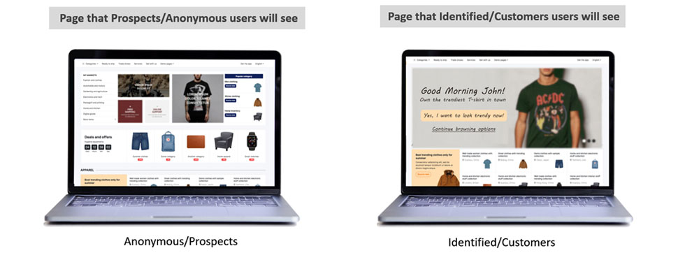personalized Homepage banners and relevant CTAs