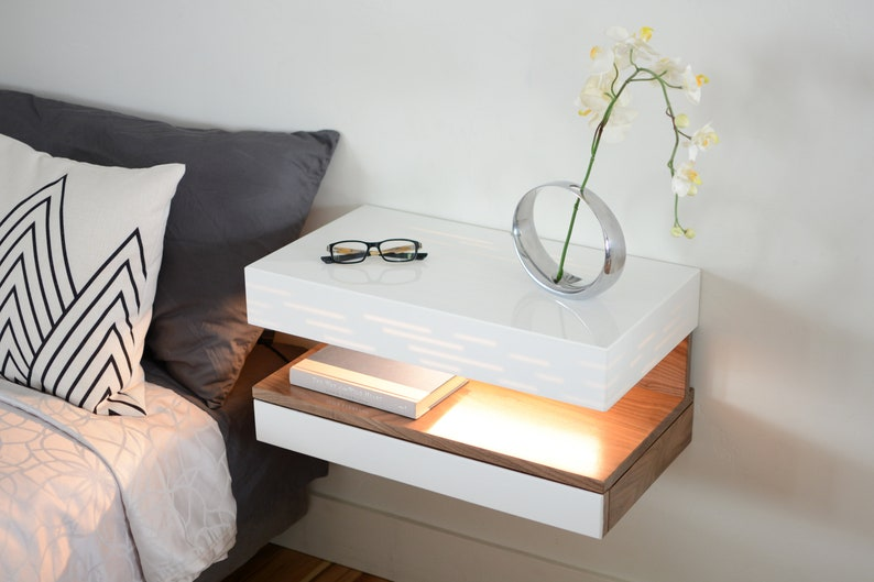 Nightstand And Lamp In One