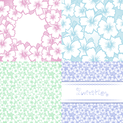 Цветочные фоны. Vector Floral frames and backgrounds