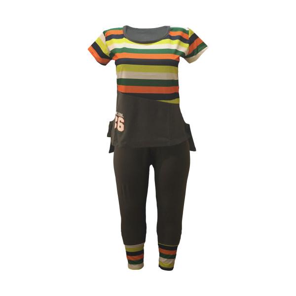 ست تی شرت و شلوار زنانه تکنور مدل T106